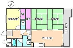 エクセル中央 506[5階]の間取り