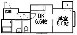ヴェルジェ円山[3階]の間取り