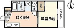 クレストビュー長束[2階]の間取り