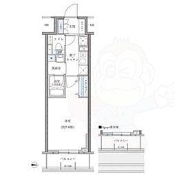 パークアクシス新栄 12階1Kの間取り