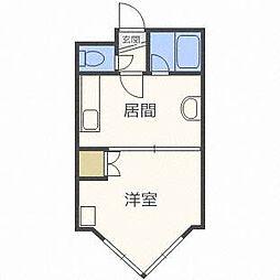 ローヤルハイツ栄通21[2階]の間取り