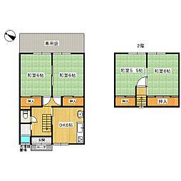 [一戸建] 島根県松江市法吉町 の賃貸【/】の間取り