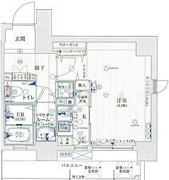 エイペックス四天王寺I[8階]の間取り
