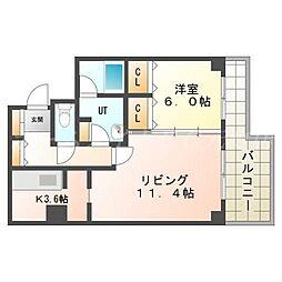 サンクリエN31[4階]の間取り