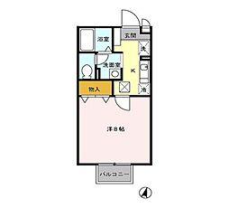 ビューコーポHARU[2階]の間取り