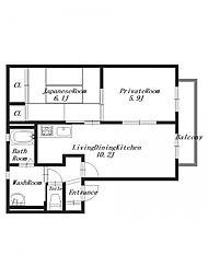 フォレストS2[1階]の間取り
