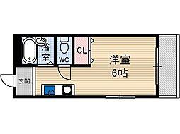 プチコスモ茨木[3階]の間取り