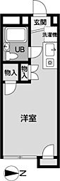 メゾン椚田[213号室]の間取り