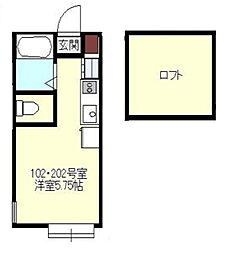 Axia Court Kishiya[1階]の間取り