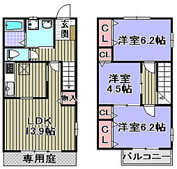 [タウンハウス] 大阪府和泉市箕形町3丁目 の賃貸【/】の間取り