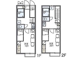 ベルデハイム[1階]の間取り