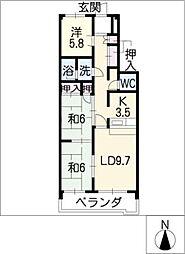 サンシャイン青木[2階]の間取り