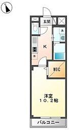 広島県福山市曙町5の賃貸アパートの間取り