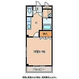 クレセント・MIU A棟[1階]の間取り