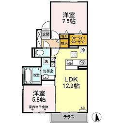 仮)D-room下香貫[1階]の間取り