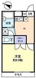 千葉県千葉市花見川区天戸町の賃貸アパートの間取り