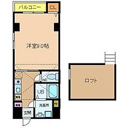 兵庫県神戸市中央区橘通1丁目の賃貸マンションの間取り
