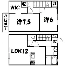 [一戸建] 静岡県浜松市東区大瀬町 の賃貸【/】の間取り