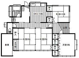 [一戸建] 栃木県足利市五十部町 の賃貸【栃木県 / 足利市】の間取り