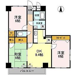 柚の木マンション[420号室]の間取り