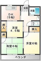 山一アパート[1号室]の間取り