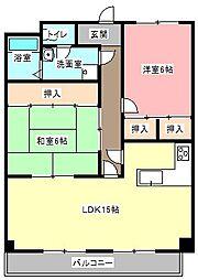 グレース蜆塚[2階]の間取り