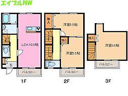 [テラスハウス] 三重県松阪市宝塚町 の賃貸【三重県 / 松阪市】の間取り