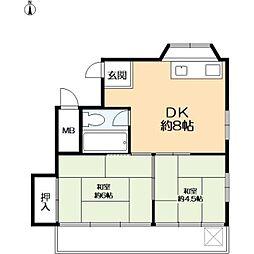 六甲リゾート[2階]の間取り