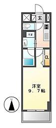 パークフラット新栄(旧ラフィット新栄)[2階]の間取り