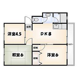橋川マンション[101号室]の間取り