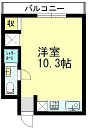 共立メゾン黒崎[3階]の間取り