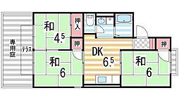 K・エステートビューラーB棟[101号室]の間取り