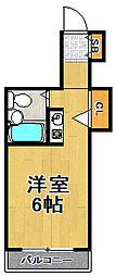 MK梅香[6階]の間取り