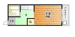 ハイツタキダニ[3階]の間取り
