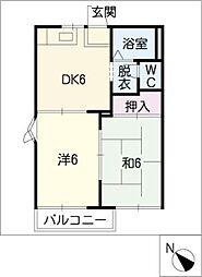 フレグランス中央[1階]の間取り