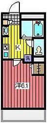 埼玉県さいたま市浦和区前地1の賃貸アパートの間取り