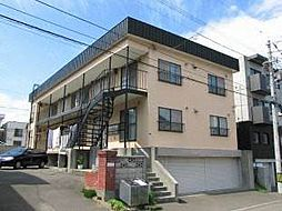 北海道札幌市白石区南郷通18丁目北の賃貸アパートの外観