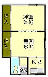 稲穂アパート[1階]の間取り