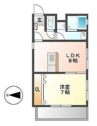 Ju・Ju(ジュジュ)[2階]の間取り