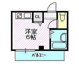 カーディナル蒲生[4階]の間取り