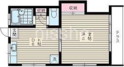 3147−コーポ中村第二[1階]の間取り