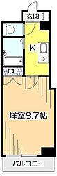 ジュノクール国分寺[4階]の間取り
