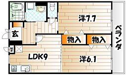 シティフォート[3階]の間取り