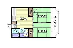 プルミエール高須[1階]の間取り