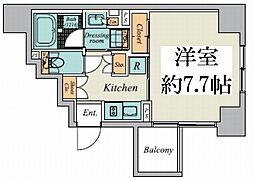 東京メトロ丸ノ内線 御茶ノ水駅 徒歩9分の賃貸マンション 8階1Kの間取り