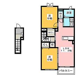 ミル メルシーB[1階]の間取り