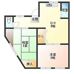 鹿島マンション[2階]の間取り