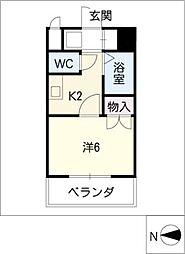 セジュール栄[7階]の間取り