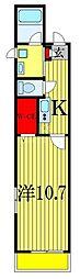 JR総武線 西船橋駅 徒歩17分の賃貸マンション 3階1Kの間取り