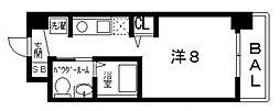 ティーズカレッジ近畿大学前(1R Cタイプ)[507号室号室]の間取り